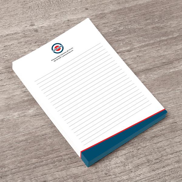 Priority Printing Note pad sample