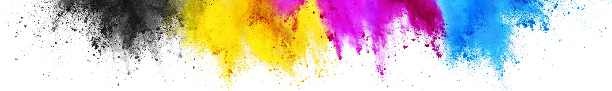 Priority Printing banner colour burst